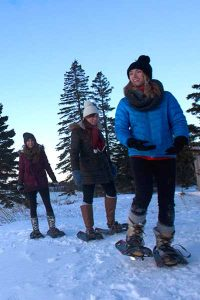 Winter Snowshoeing at Bluefin Bay Family of Resorts