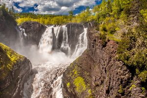 Waterfall in Grand Portage