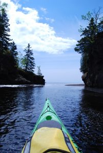 Kayaking on the North Shore