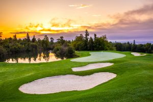 Superior National golf course and sunset sky