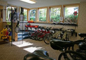 Complimentary Bikes and equipment at Bluefin Bay on Lake Superior