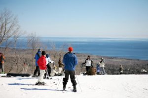 People skiing at Lutsen Mt.