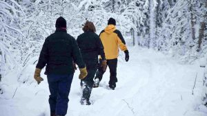 Snow Shoeing at Bluefin Bay Family of Resorts