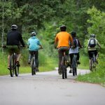 biking on the gitchi-gami trail