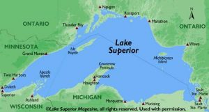 Map of Lake Superior