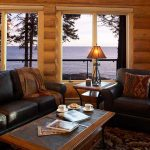 Temperance Landing Living Room - Log Home