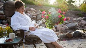 Relaxing at Waves of Superior Spa