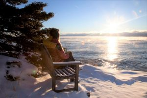 Winter Couple by Lake Superior