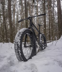 fat bike in winter