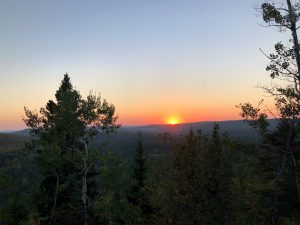 Oberg Mountain West Lookout Fall Sunset