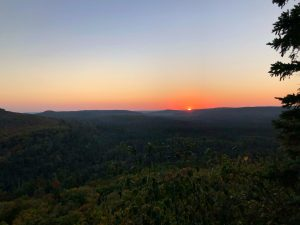 Oberg Mountain West Lookout Fall Sunset 2