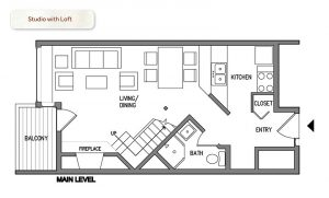 Bluefin Bay Studio with Loft Floor Plan