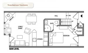 Bluefin Bay Three Bedroom Townhome Floor Plan
