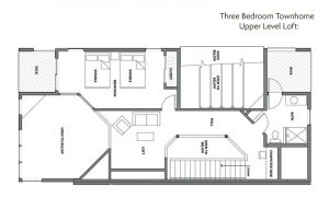Surfside Three Bedroom Townhome Floor Plan