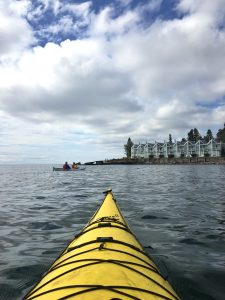 kayaking by Bluefin Bay on Lake Superior