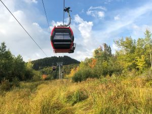 Gondola at Lutsen Mountains. Bluefin Bay Fall Color Report