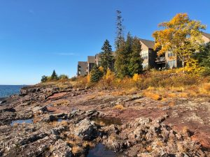 surfside on lake superior in fall