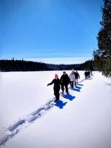 Winter guided hikes at bluefin bay family of resorts