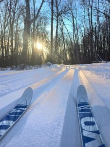 cross-country skiing on the sugarbush trails