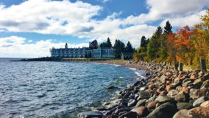 Bluefin Bay Resort with Fall Leaves