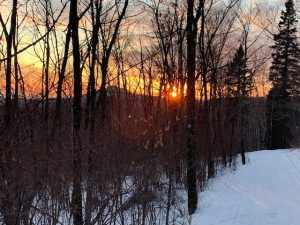 Sunset from Cross Country Ski Trails