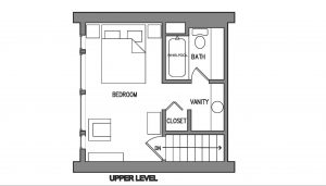 One Bedroom Elite Condo Floorplan