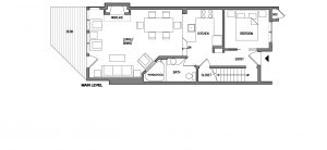 Superior Three Bedroom Townhome Floorplan